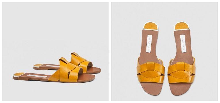 melhores sapatos por menos de 30€ chinelos pele amarelos