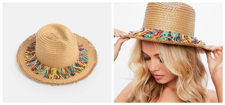 chapéus para a primavera verão franjas coloridas