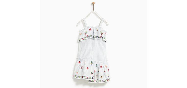 prendas de dia da criança vestido bordado