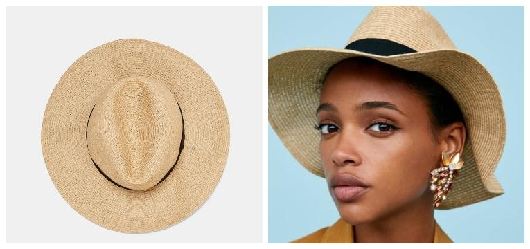 chapéus para a primavera verão ráfia