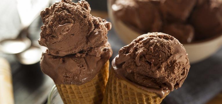 gelado de nutella