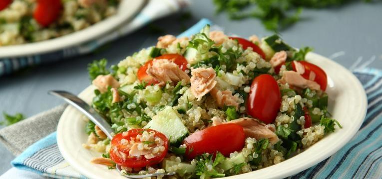 saladas com quinoa