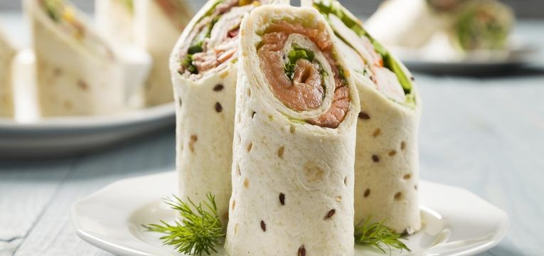 wrap de salmão