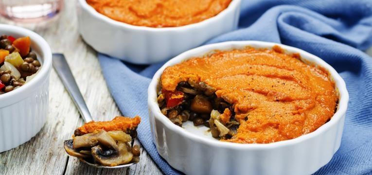 empadão vegan de espinafres e cogumelos