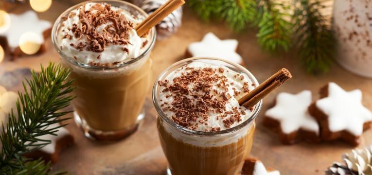 chocolate quente com caramelo