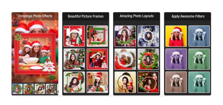 christmas photo effect