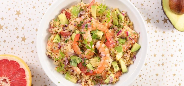 camarao quinoa