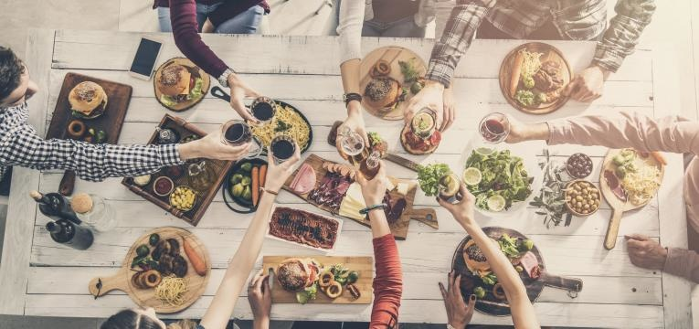 refeições em família