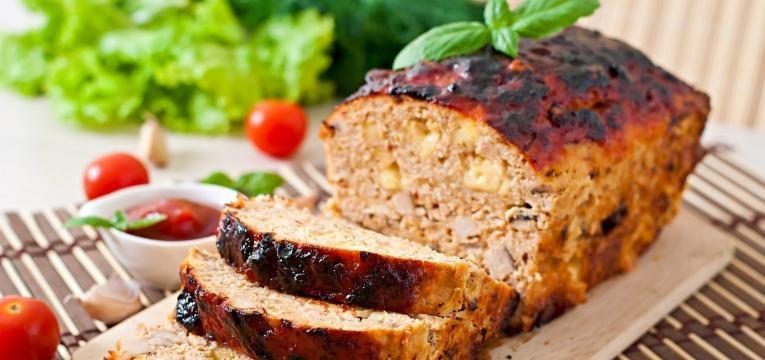 rolo de carne picada de frango