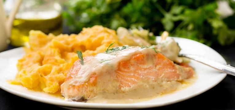 salmão puré