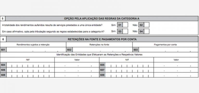 rendimentos da categoria B