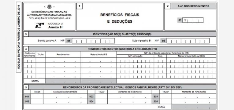 rendimentos da categoria H