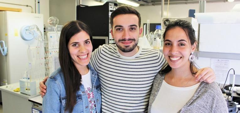 Os investigadores Marguerita Rosa Emanuel Capela e Mariam Kholany