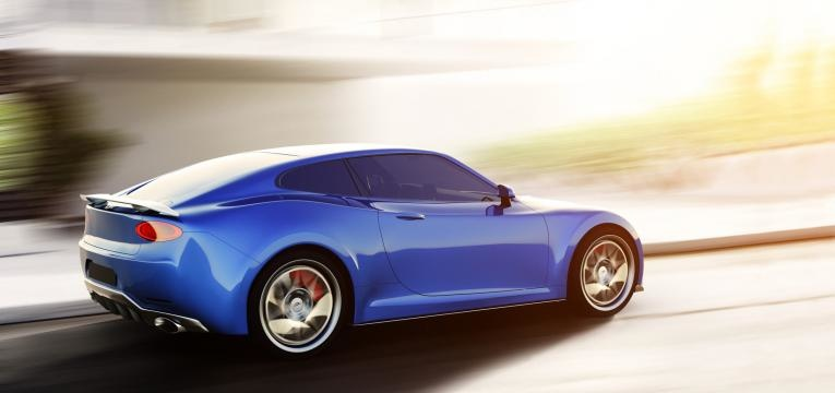 carro a alta velocidade