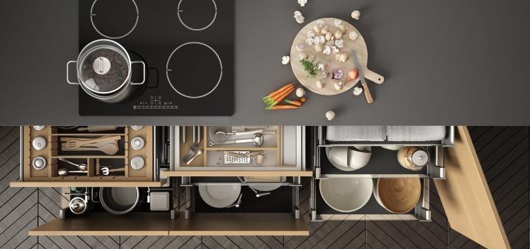 armário para arrumação dos utensílios básicos de cozinha