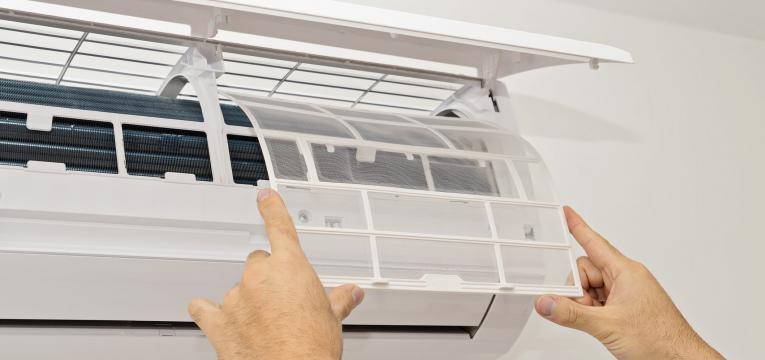 limpeza de filtros do ar condicionado