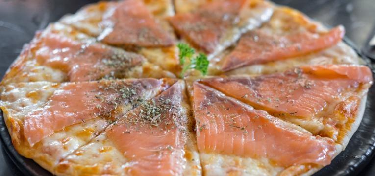 pizzas de salmão