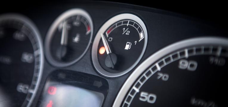 nivel do combustivel em baixo