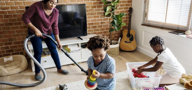 limpar a casa numa hora