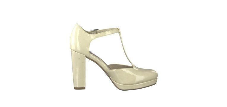 sapatos para levar a um casamento verniz branco