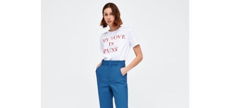 t-shirts para o verão my love is punk zara