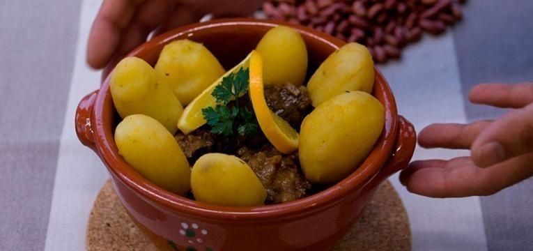 Receitas Xisto - papas de milho com torresmos