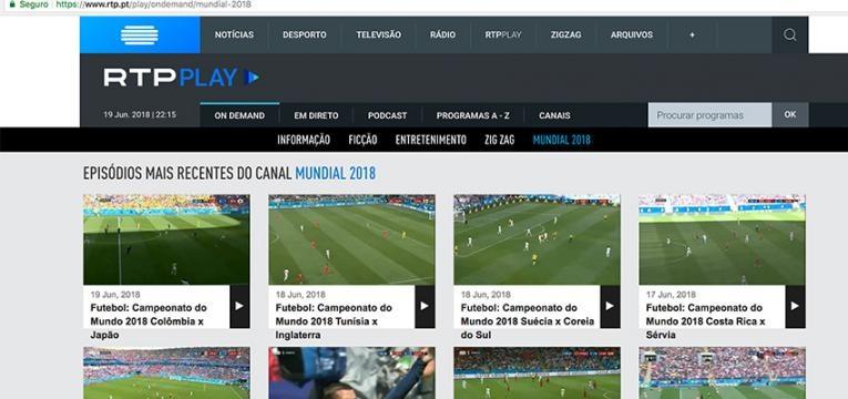 Como ver jogos do mundial em diferido na RTP