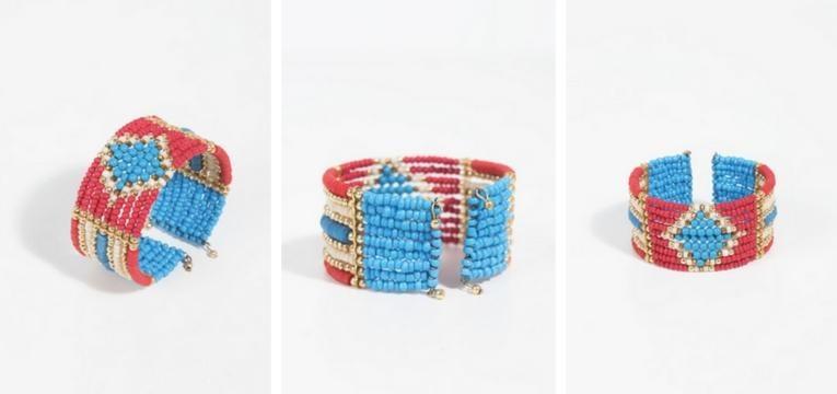 pulseira colorida rosa azul acessorios de primavera para comprar na parfois