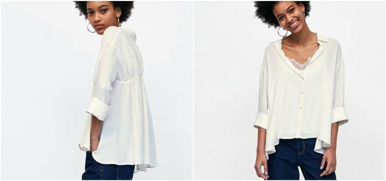 melhores peças da Zara para oferecer no dia da mãe camisa branca