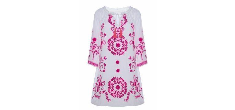melhores pecas primavera comprar primark tunica rosa branco bordada