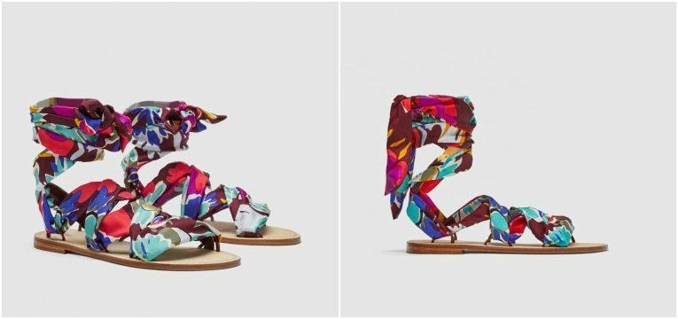 sandalias fitas coloridas zara studio