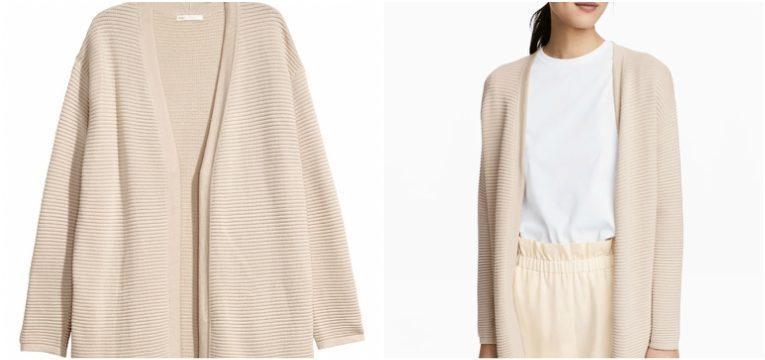 pecas da H&M que vai querer comprar na primavera casaco malha canelado rosa