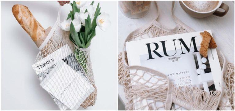 carteira de rede branca flores