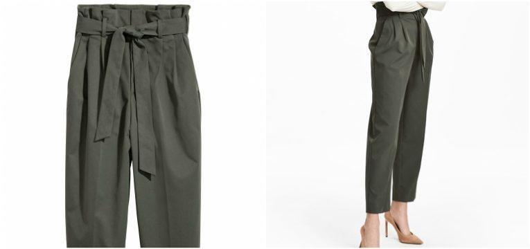 pecas da H&M que vai querer comprar na primavera calcas paperbag verde caqui