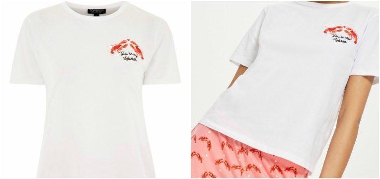 as lagostas são tendência pijama topshop