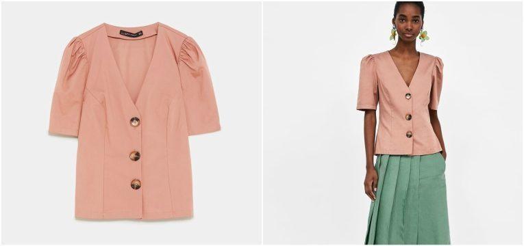 melhores peças da Zara para oferecer no dia da mãe camisa rosa