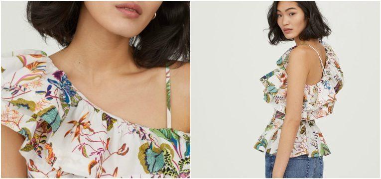 pecas da H&M que vai querer comprar na primavera blusa top branco flores