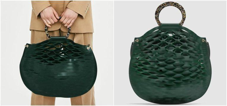 melhores peças da Zara para oferecer no dia da mãe mala verde redonda pele