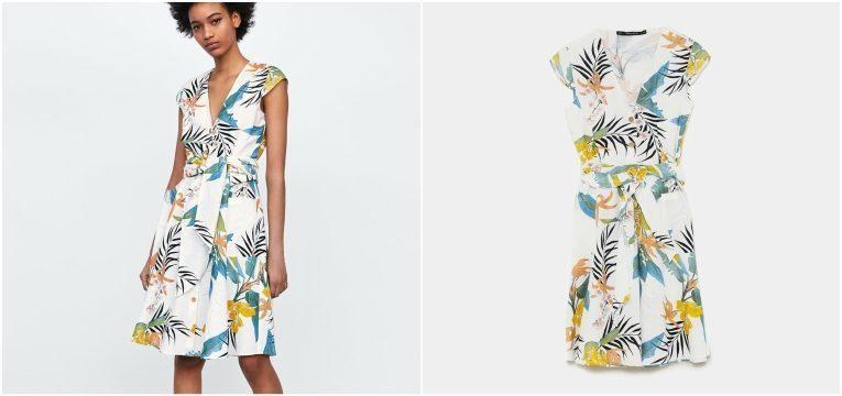 melhores peças da Zara para oferecer no dia da mãe vestido estampado