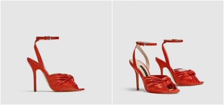 melhores peças da Zara para oferecer no dia da mãe sandalias vermelhas