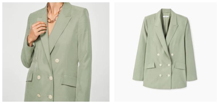 casaco verde menta peças da Mango que invadiram o Instagram