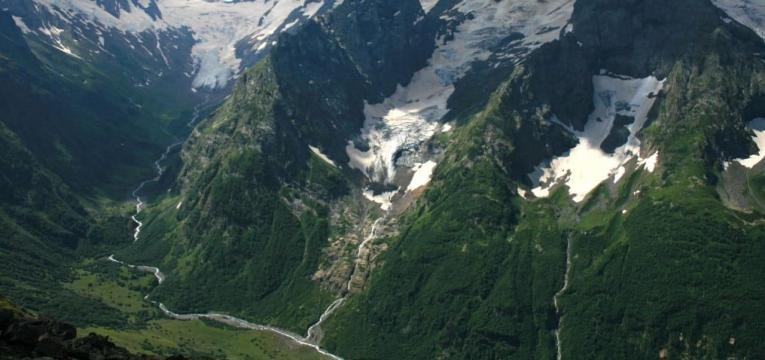 La route du Caucase, na Rússia