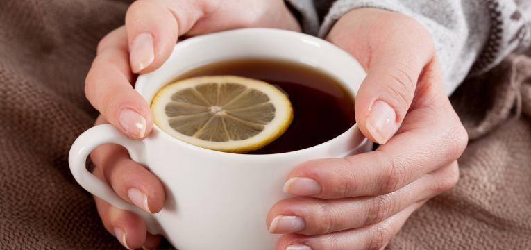 Chá de limão e mel