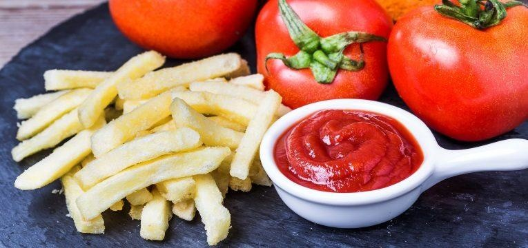 molho ketchup sauce tomates batatas fritas