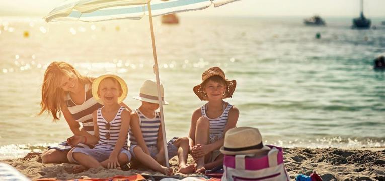 praia criancas