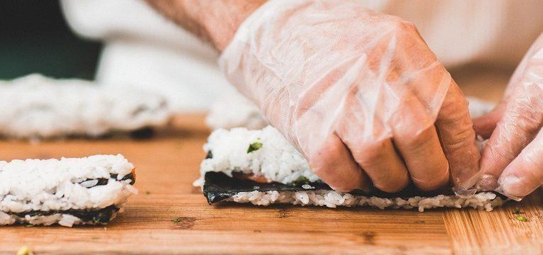 fazer arroz de sushi
