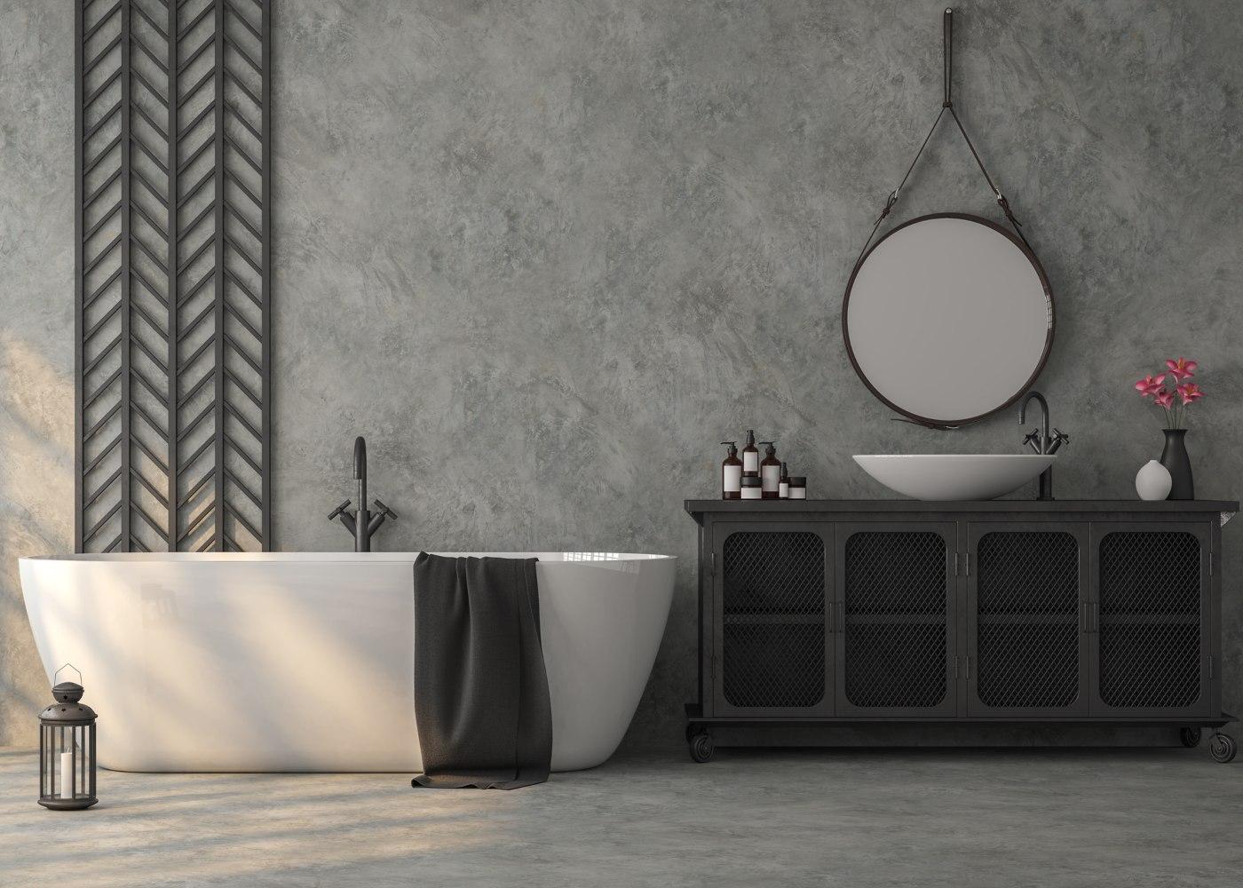 casa de banho com pavimento em mármore