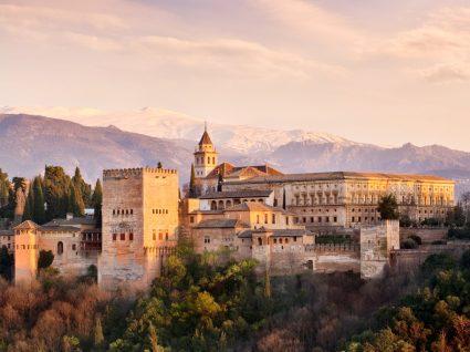 Vista do Alhambra em Granada
