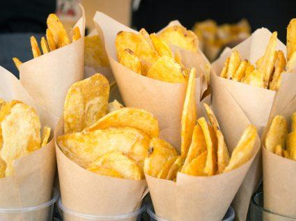 Receita de batatas chips no micro-ondas