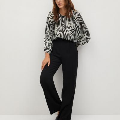 blusa com estampado zebra